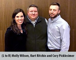 Molly Wilson, Kurt Ritchie and Cory Picklesimer owners of Indoor Comfort